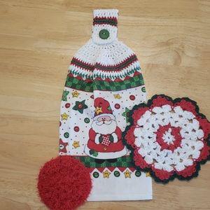 Lee's Crochet Kitchen Towel Set